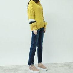 Vintage Vender - Fray-Hem Straight-Cut Jeans