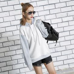 Sonne - Two-Tone Hooded Pullover