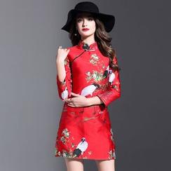 Elabo - 七分袖刺绣旗袍