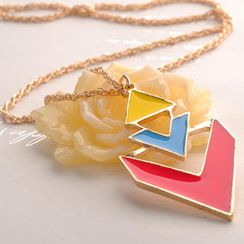 Fit-to-Kill - Triangle Contrast Color Necklace