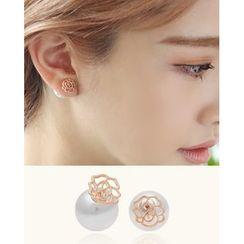 Miss21 Korea - Rose Stud Earrings