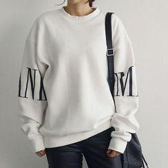 NANING9 - Lettering Print Sweatshirt