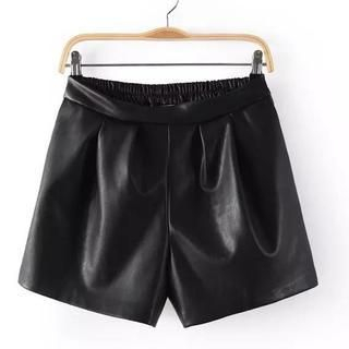 JVL - Faux-Leather Shorts