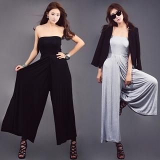 Nabi - Strapless Wide-Leg Jumpsuit