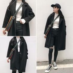 Moon City - Notch Lapel Long Woolen Coat