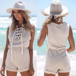 Hanni - Lace-Up Playsuit