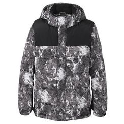 AMPO - Print Hooded Down Jacket