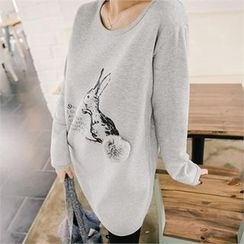 JOAMOM - Printed Long T-Shirt