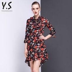 Y:Q - Floral Print A-Line Dress