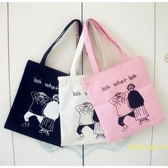 Aoba - Cartoon Print Lightweight Shoulder Bag