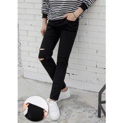 GERIO - Distressed Slim-Fit Pants (2 Designs)