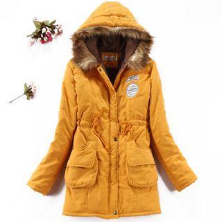 JVL - Faux- Fur-Trimmed Fleece-Lined Parka