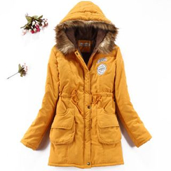 JVL - Faux- Fur-Trimmed Fleece-Lined Parka
