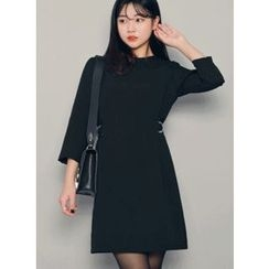 HOTPING - 3/4-Sleeve Tie-Back Dress