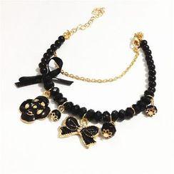 Kristina - Bow Charm Bracelet