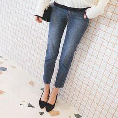 mimi&didi - Straight-Cut Washed Jeans