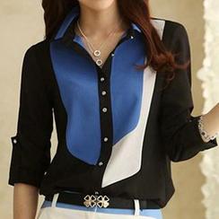Caroe - Color-Block Chiffon Shirt