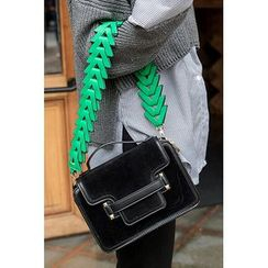 migunstyle - Snap-Button Shoulder Bag With Strap