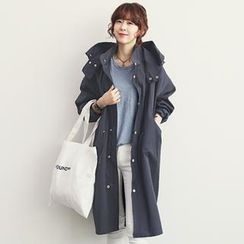 NANING9 - Hooded Drawstring-Waist Coat