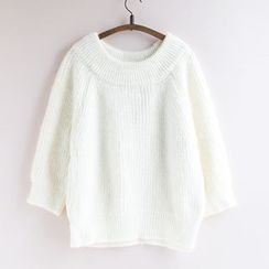 11.STREET - Lantern Sleeve Knit Top