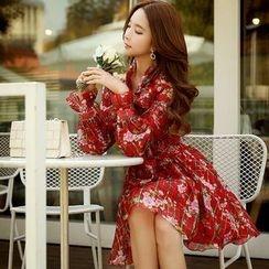 Dabuwawa - Long-Sleeve Chiffon Dress