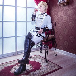 Ghost Cos Wigs - Seraph of the End Mikaela Hyakuya Cosplay Costume Set