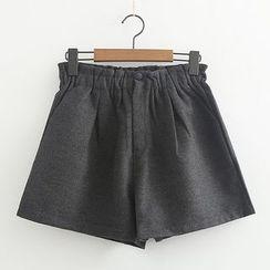 ninna nanna - 純色針織短褲