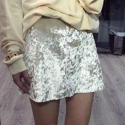 LRZ - Velvet Mini Skirt