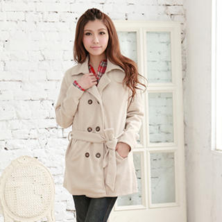 RingBear - Wool-Blend Double-Breasted Trench Coat