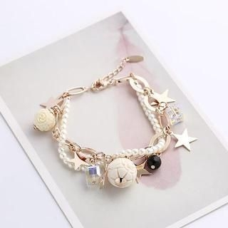 Love Generation - Gemstone Star Layered Bracelet