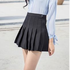 Sienne - Pleated A-line Skirt