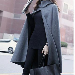 Fashion Street - Collared Cutout Cape