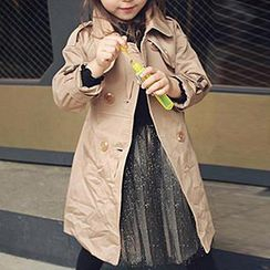 Cuckoo - Kids Double-Breasted Trench Coat