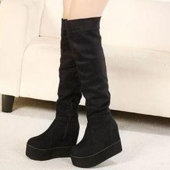 Mancienne - Platform Wedge Tall Boots