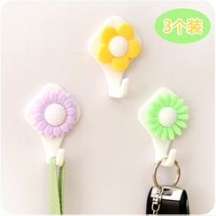 Desu - Set of 3: Flower Wall Hook