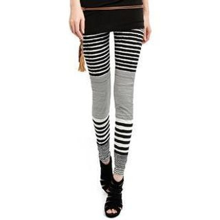 Lynley - Mixed Striped Leggings