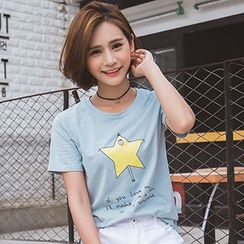 Ashlee - Short-Sleeve Print T-Shirt