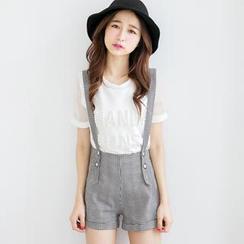 Tokyo Fashion - Patterned Detachable Jumper Shorts
