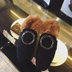 Hipsole - Faux-Fur Trim Slip-Ons