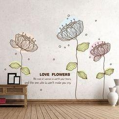 樂宅 - 花形牆貼