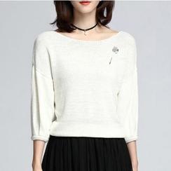 Sentubila - 3/4-Sleeve knit Pullover