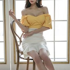 Aurora - 假兩件塑身連衣裙