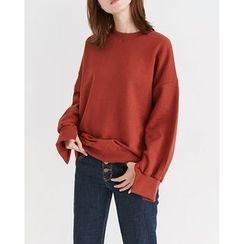 Someday, if - Slit-Cuff Cotton Sweatshirt