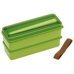Skater - Earth Color Seal Lid Lunch Box (Green)