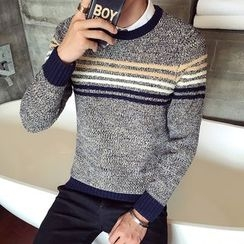 Harvin - Striped Melange Sweater