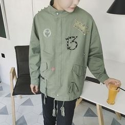 Arthur Look - Embellished Drawstring Waist Safari Jacket