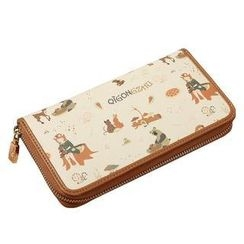 Princess Carousel - Faux-Leather Print Zip Wallet