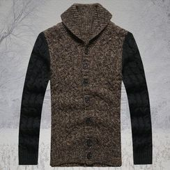 Mannmix - Cable Knit Cardigan