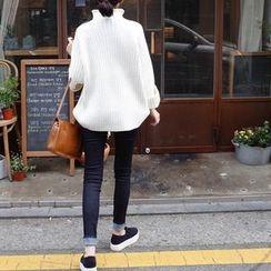 mimi&didi - Brushed-Fleece Lined Skinny Jeans