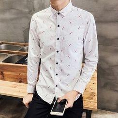 Besto - Feather Print Shirt